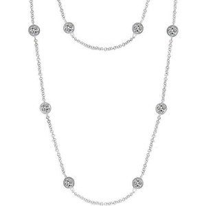 8.00 ct Women yard of diamonds necklace bezel mill